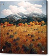 Listening To Mountains Acrylic Print