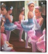 Little Ballerinas Backstage At The Recital Acrylic Print