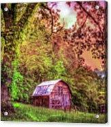 Little Barn In The Smokies Acrylic Print