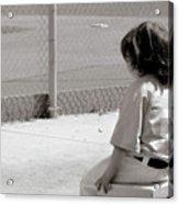 Little Baseball Brother Acrylic Print