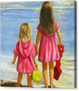 Little Beachcombers Acrylic Print by Joni McPherson