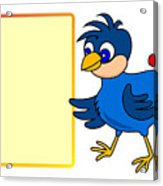 Little Bird With Message Board Acrylic Print