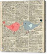 Little Birds Love Acrylic Print