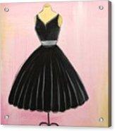 Little Black Dress Acrylic Print