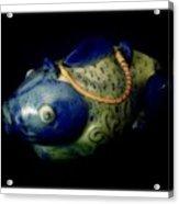 Little Blue And White Fish Tea Pot Still Life Acrylic Print