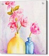 Little Blue Vase Acrylic Print