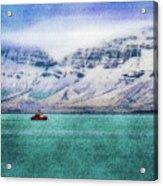 Little Boat In Reykjavik Bay Acrylic Print