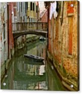 Little Boat On Canal In Venice Acrylic Print