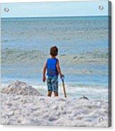 Little Boy Big Dreams Acrylic Print