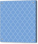 Little Boy Blue Quatrefoil Acrylic Print