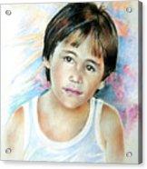 Little Boy From Tahiti Acrylic Print