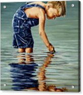 Little Boy Reflection Acrylic Print
