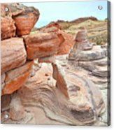 Little Castle Above Wash 3 In Valley Of Fire Acrylic Print