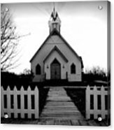 Little Church B And W Acrylic Print by Julie Hamilton