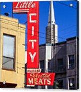 Little City Sign North Beach Acrylic Print