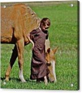 Little Country Girl Acrylic Print