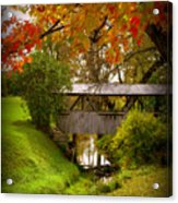Little Covered Bridge Acrylic Print by Trina Prenzi