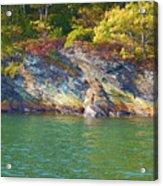 Little Diamond Island Springtime Acrylic Print
