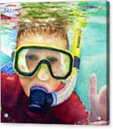 Little Diver Acrylic Print