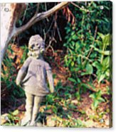 Little Flowergirl Acrylic Print