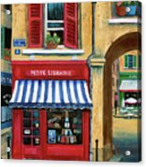 Little French Book Store Acrylic Print