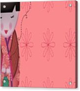 Little Geisha Pink Acrylic Print