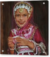 Little Girl In India Acrylic Print