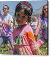 Little Girl Smiles Acrylic Print