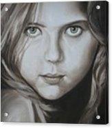 Little Girl With Green Eyes Acrylic Print