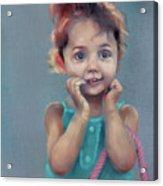 Little Girl With Purse Acrylic Print