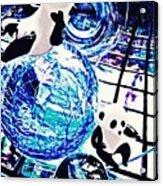 Little Glass Pandas 30 Acrylic Print