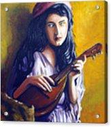 Little Gypsy Acrylic Print