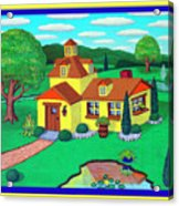 Little House On The Green Acrylic Print by Snake Jagger