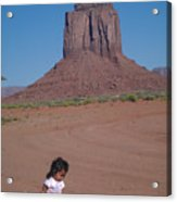 Little Indian Girl Acrylic Print