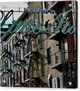 Little Italy In New York Acrylic Print