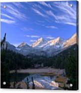 Little Lakes Valley Panorama Acrylic Print