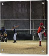 Little League Baseball Acrylic Print