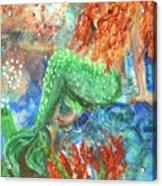 Little Mermaid Acrylic Print by Jennifer Kelly