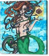 Little Mermaid Acrylic Print
