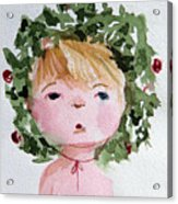 Little Miss Merry Acrylic Print