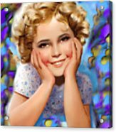 Little Miss Shirley Acrylic Print