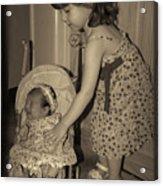 Little Mommy Acrylic Print