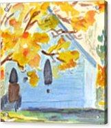 Little Old Church In Friday Harbor Acrylic Print