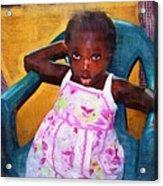 Little Orphan Girl Acrylic Print