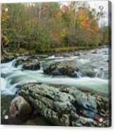 Little Pigeon River In Autumn In Smoky Mountains In Autumn Acrylic Print