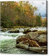 Little Pigeon River In The Greenbrier Section Of Smoky Mountains Acrylic Print