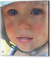 Little Pilgrim Myles Alden At 1yo Acrylic Print