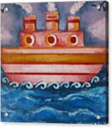 Little Pink Ship Acrylic Print