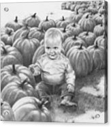 Little Pumpkin Acrylic Print