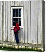 Little Red Peeping Tom Acrylic Print